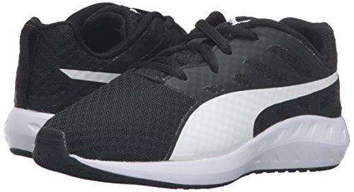 PUMA Boys  Flare Mesh PS Running Shoe  Black White  1 5 M US Little Kid