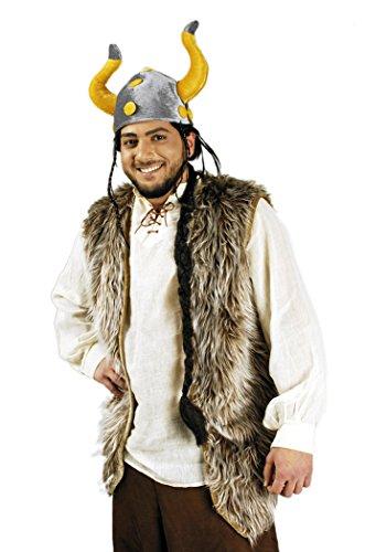 Unbekannt Wikinger Kostüm Weste braun-beige für Herren | -
