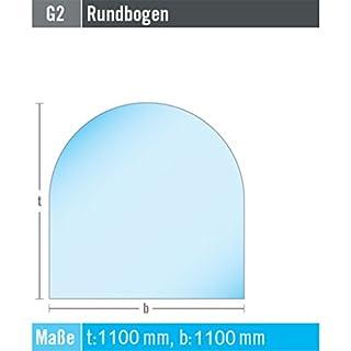 EHV Kamin Funkenschutz Bodenplatte Rundbogen 1100 mm x 1100 mm