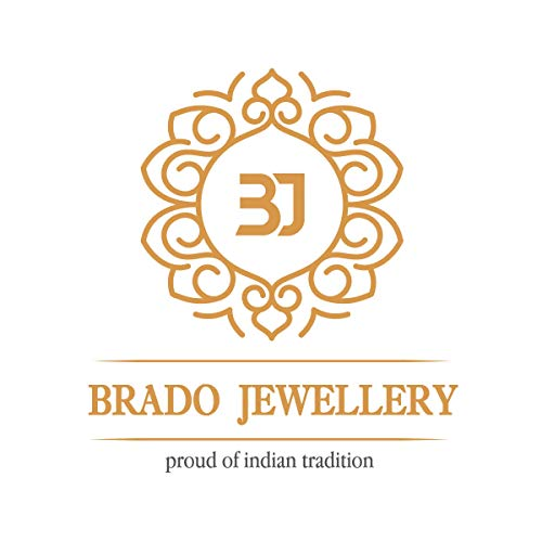 brado jewellery Gold Plated Mangalsutra AD Pendant Necklace/Chain with Earrings Set for Women (18 Inch)