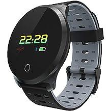 WETERS Fitness Tracker Actividad Reloj frecuencia cardíaca Monitor de presión Arterial Impermeable Paso a Paso Mensaje