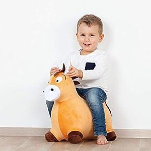 John 59043 Hop Pony - Peluche Hinchable con Revestimiento de Peluche, Color marrón