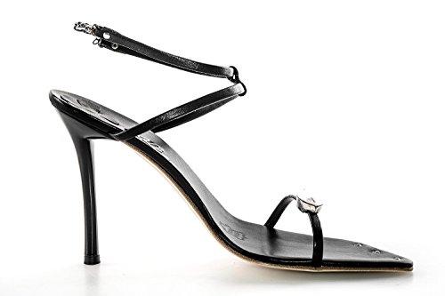 Scarpe donna WHY BY ALBERTO VENTURINI gioiello N.37 sandalo nero in pelle X2469