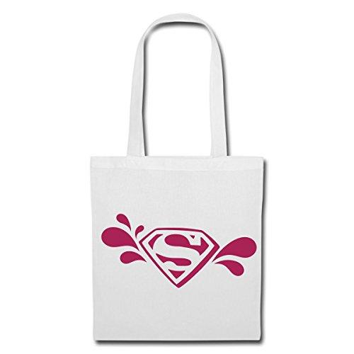 Spreadshirt DC Comics Supergirl Logo Stoffbeutel, Weiß