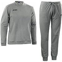 4c1b5c1108 ASICS Tuta sportiva unisex giacca + pantaloni cotone 100% PATRIK grigio  T161Z8