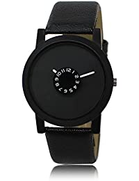 Rishiv Analouge Black Attractive Dial And Full Black Leather Strap Stylish Wrist Watch Formal Casual Party Wedding...