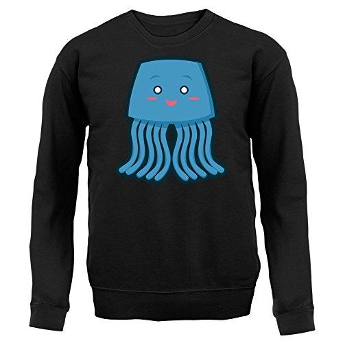 Cute Whale - Unisex Pullover/Sweatshirt - 8 Farben Schwarz