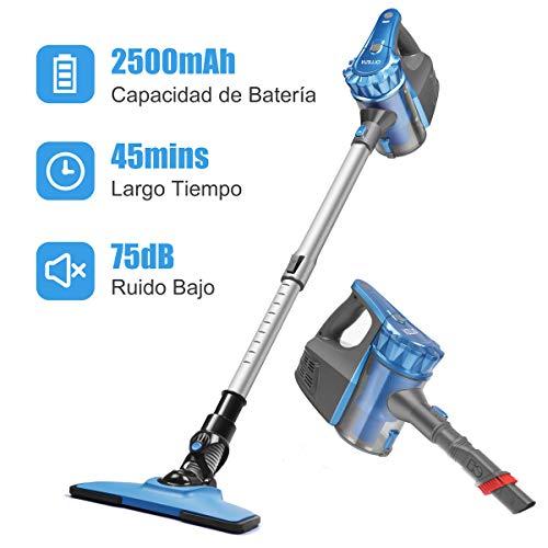Aspiradora Escoba sin Cable, Aspirador de Mano Ultraligero y Inalámbrico, 0.8L, 2 Velocidades 9000PA...
