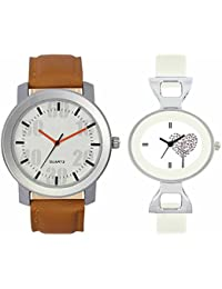 SVM VL27VT32 New Couple Combo Designer Stylish Leather & Plastic Belt Analog Watch For Men & Women