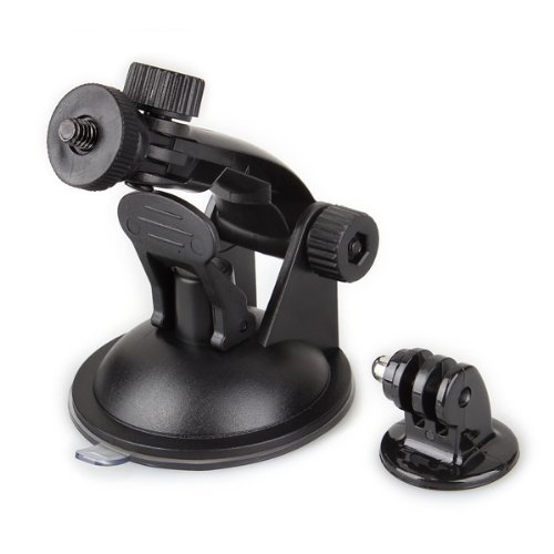 Car Suction Cup + Tripod Mount Adapter for GoPro Hero 3 2 1 Black Camera (Suction-cup-mount-kamera)