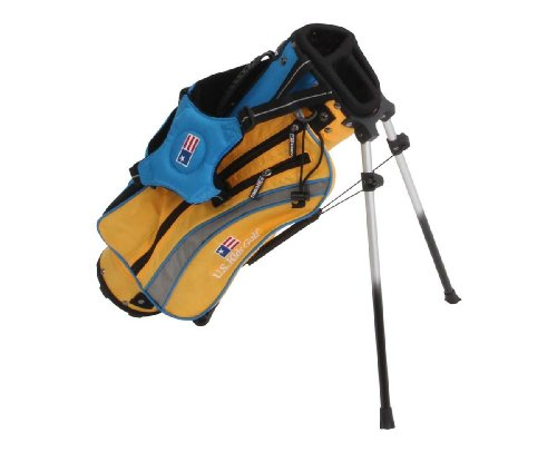 U.S. Kids Golf Ultralight Series Stand Bag (UL42 / 104-110cm) gelb/bl