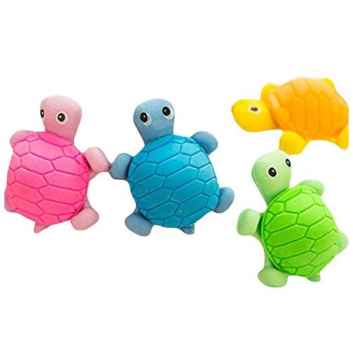 Haodou 5 Stück Radiergummi Niedlich Schildkröte Form Radiergummi 5*4cm Neuheit Spielzeug für...