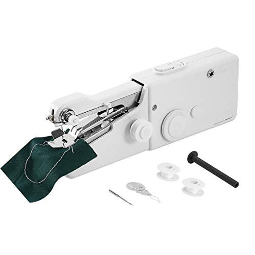 Candybarbar Mini máquina de Coser portátil eléctrica portátil con batería Herramienta de Costura de Ropa de Puntada fácil para Uso doméstico de Viaje