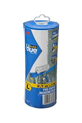 ScotchBlue 2090FDL Abdeckfolie mit Malerband Malerkrepp im Abroller, Größe: L, 2,7 x 17 m