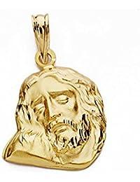 Cabeza rostro Cristo oro 18k 18mm. [AA2437]