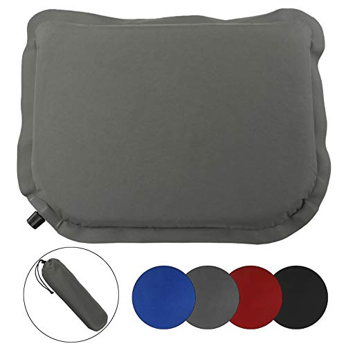 ALPIDEX Selbstaufblasendes Camping Sitzkissen selfinflating Thermokissen Ultraleicht 40 x 30 x 3,8 cm, Farbe:Stone Grey