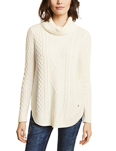 Street One Damen 300391 Pullover, Off White, 44 -