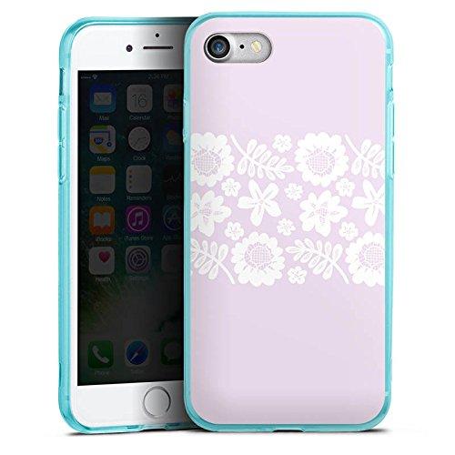 Apple iPhone 8 Silikon Hülle Case Schutzhülle Rosa Spitzenborte Oktoberfest Muster Silikon Colour Case eisblau