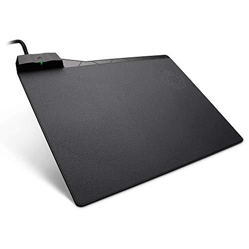 Corsair MM1000 Wireless Charging Gaming-Mauspad (für Corsair Dark Core SE, mit Kabelloser Qi-Ladezone inkl. Smartphone Adapter für iPhone und Android mit USB-C und USB-Micro) -