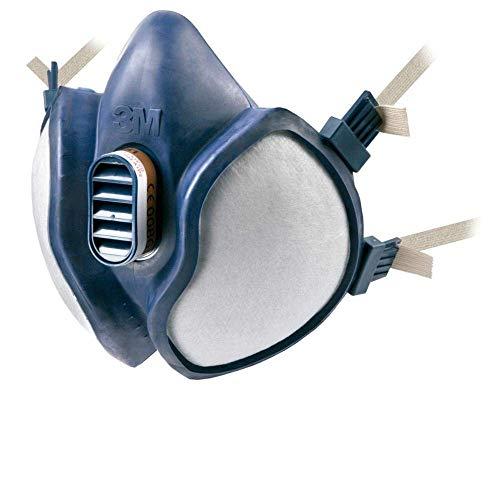 3M 4251 - Máscara sin mantenimiento con filtros FFA1P2R D (1 máscara/bolsa), 1 Unidad, Certificado de seguridad EN