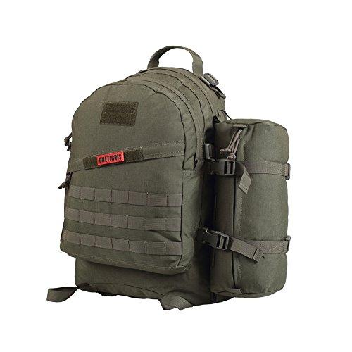 OneTigris BUSHCRAFTER 50L Molle Taktische Militärische Rucksack Daypack für EDC Camping Reisen Wandern Trekking (Ranger grün)