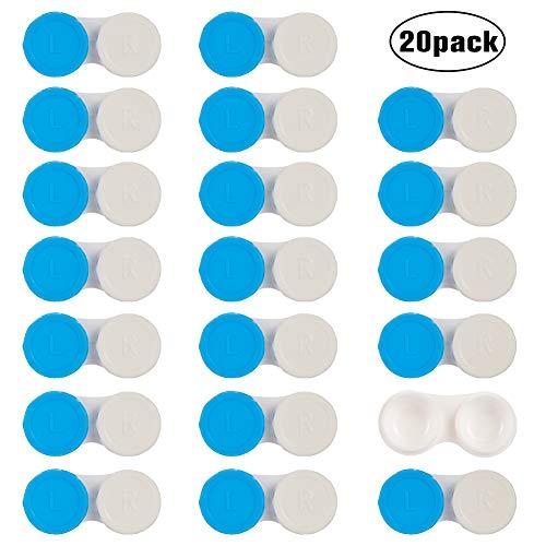 You&Lemon 20 Stück Kontaktlinsenbehälter Dauerhaft Aufbewahrungsbehälter für Zuhause und Reisen mini kontaktlinsenbehälter(BL)