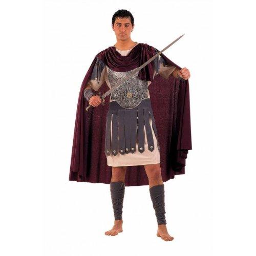 Griechische Kostüm Gr. XXL Erwachsenen 's Costume Trojan 5–Stück Gürtel Stiefel Handschuhe Tunika Cape