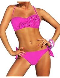 Amazon.fr   maillot de bain rose fushia - Femme   Vêtements 2b0f5e912ee5