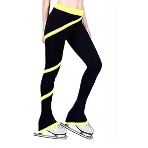 SDVSDF Hosen für den Eiskunstlauf Damen Kinder Mädchen Eiskunstlaufkleider warm halten Schweißableitend Training Sportkleidung