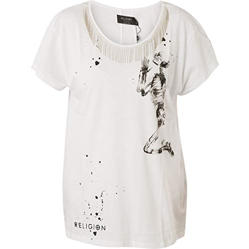 Religion Damen T-Shirt Vivacious Tee 59EVVT41 White Weiß, L