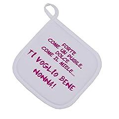 Idea Regalo - Presina Forte come un pugile, dolce come il miele...ti voglio bene nonna- festa dei nonni - idea regalo - dimensioni: 17cm x 17 cm