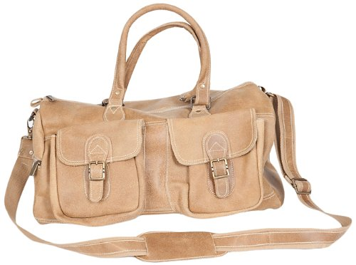 david-king-co-duffel-with-2-front-pockets-distressed-tan-one-size