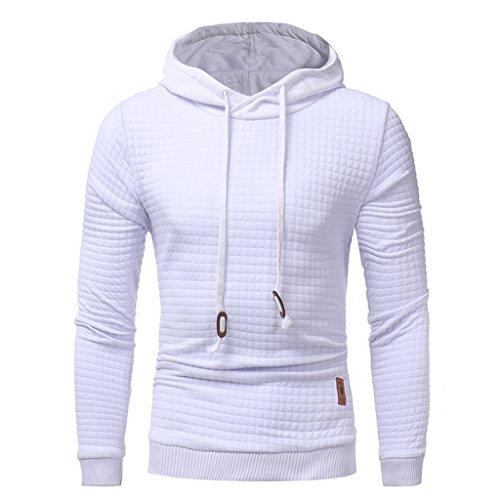 Kapuzenjacke Herren, Lylafairy MäNner Winter DüNnen Warme Sweatshirt Hoodie Kapuzenpullover (XL, Weiß)