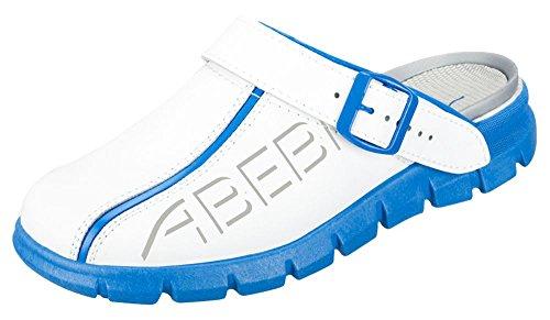 clinicfashion Clog weiß/blau, für Damen und Herren, Größe 35-48 Weiß/Blau
