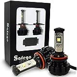 Safego 2x H8 H9 H11 Faro Bombillas Alquiler de luces LED 80W 8000LM brillante estupendo de