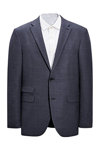 next Uomo Completo Signature Testurizzato: Giacca Vestibilità Sartoriale Blu