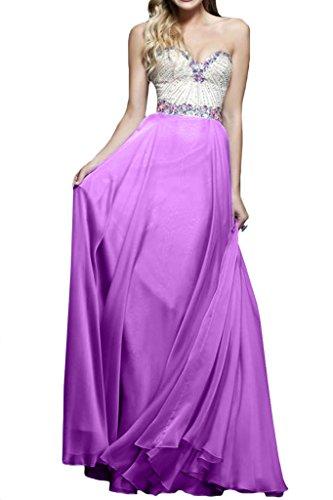 ivyd ressing–Cœur de la découpe strass a ligne fixe Vêtements Prom robe robe du soir Violet - Lavande