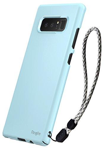 Ringke Slim Kompatibel mit Galaxy Note 8 Hülle [2 Pack] Ultradünnes PC Hartschalencover mit Handschlaufe Minimale Anti-Scratch Schutzhülle Case Panzer Cover Maßgenaue Ausschnitte - Sky Blue (49ers Armband)