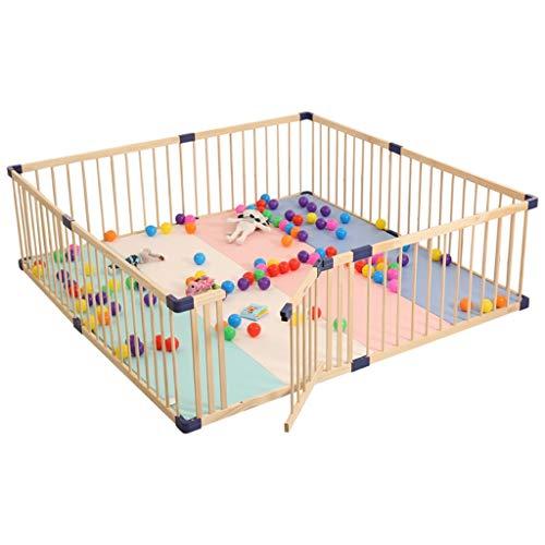 Laufgitter laufstall Hölzerner Babylaufstall - großer Sicherheits-Spielplatz für Kinder Home Indoor Outdoor-Zaun (größe : 140×200×61cm) -