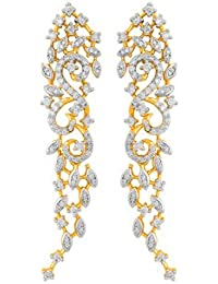 Voylla Beautiful Filigree Earrings With Gold Plating
