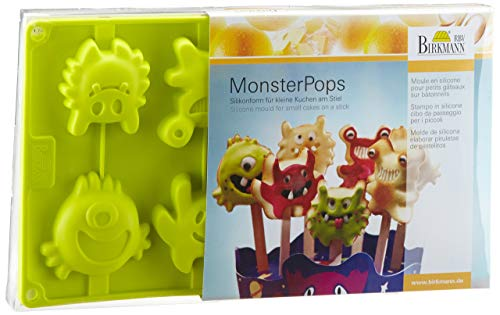 Monster- Pops Set aus Silikonform 8-fach