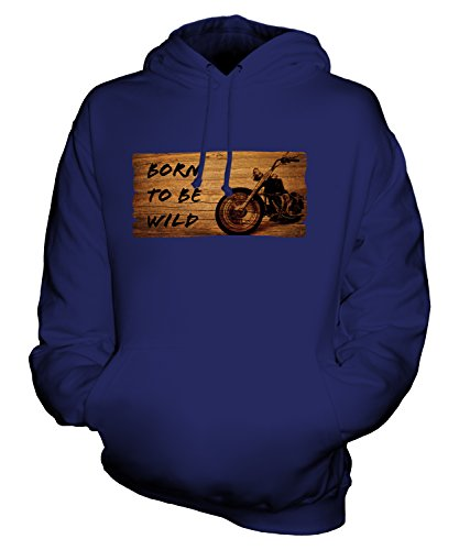 Candymix - Born to Be Wild Motorbike - Unisex Hoodie Mens Ladies Hooded Sweater