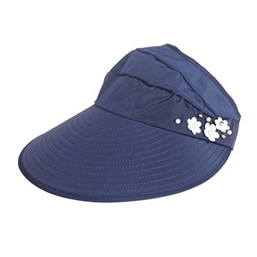 Preisvergleich Produktbild UFACE Frauen Outdoor Strand Sonnenschutzkappe UV Schutz Caps Sonnenblende Hut (Marine)