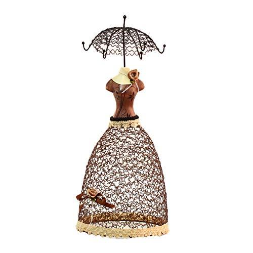 Preisvergleich Produktbild Schmuckständer,  Rock kann aufgehängt werden,  Ohrring-Ausstellungsstand,  einzigartige Form,  Ohrring-Modell,  Ohrring-Design,  schönes Modell Schmuckablage,  Schlafzimmer-Schminktisch-Dekoration, Brown