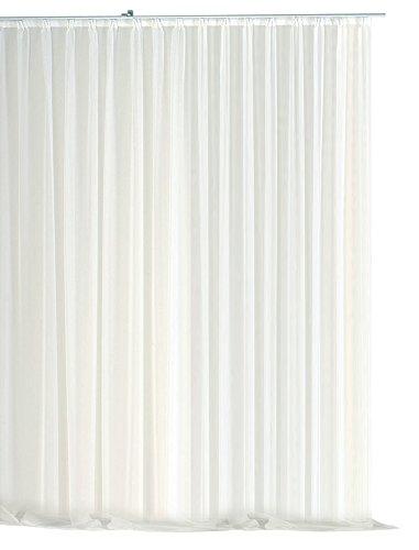 Voile Dekoschal Gardine Emotion weiß Organza Vorhang Kräuselband klassisch transparent kurz mittel oder lang Store #1309 (700x245)