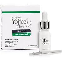 Yoffee Clear Tratamiento Premium anti hongos de uñas 10ml Solución eficaz en pies con aceite de Argán y aceite de árbol del Té