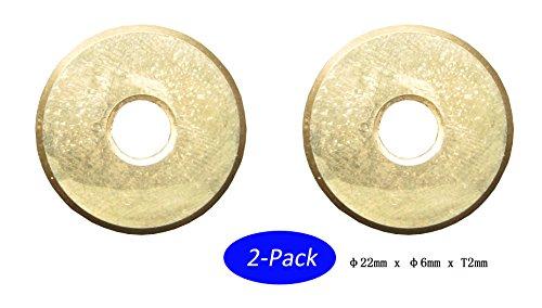 FITOOL 2PIECE im Bügel Fliesenschneider Ersatzschneidrad 7/8Zoll, Premium Qualität Standard (5000M Keramik Fliesen Schneiden Kapazität), Titan beschichtete, Tile Schneidrad 22mm 2er Pack