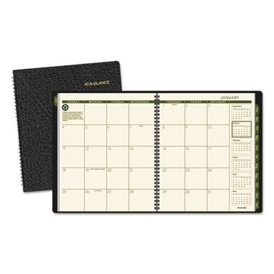 At-A-Glance AAG70260G05 - Recycled Monthly Planner, Black, 9 X 11, 2014 by At-A-Glance