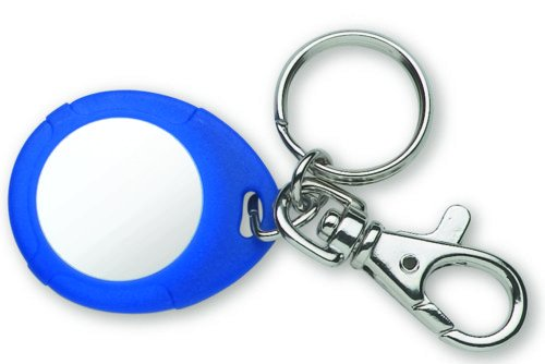 Farfisa FP12/10 Transponder Schlüsselanhänger für berührungslose Codeschlösser, Blau/Weiß, 10 Stück
