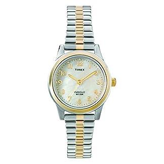Timex Dressy Ex T2M828 – Reloj de Cuarzo para Mujeres, Correa de Acero Inoxidable, Bicolor